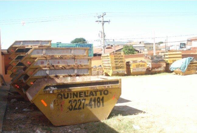 Caçamba para material reciclável