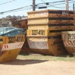 Caçamba para resíduos de madeira
